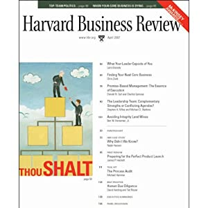 Harvard Business Review, April 2007 | [Larry Bossidy, James Hackett, David Harding, Ted Rouse, Gary Carini, Bill Townsend]