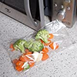 Quickasteam Microwave Cooking Bags 1-2 Serving Bags. 25 bags per pack