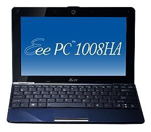 Asus Eee PC 1008HA Seashell Netbook, Midnight Blue (Intel 1.66 GHz, 1 GB RAM, 160 GB HDD, 10 inch screen)