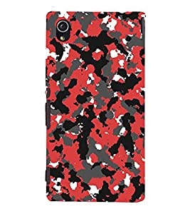 Abstract Design 3D Hard Polycarbonate Designer Back Case Cover for Sony Xperia M4 Aqua :: Sony Xperia M4 Aqua Dual