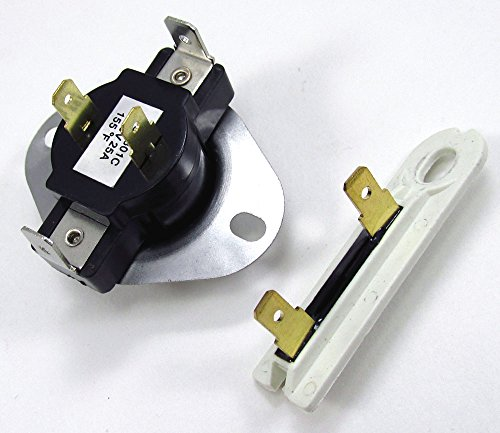 3387139 AND 3392519 DRYER CYCLING THERMOSTAT WITH INTERNAL BIAS HEATER OPENS AT 155F, CLOSES AT 130F & THERMAL FUSE for All Major Brand Dryers (Whirlpool Part 3392519 compare prices)