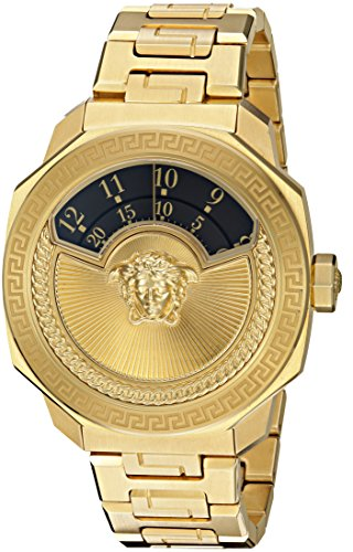 Versace-Mens-VQH020015-DYLOS-AUTOMATIC-LIMITED-EDITION-Analog-Display-Swiss-Automatic-Gold-Watch