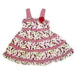 Youngland Infant & Toddler Girls Red Cherry Gingham Ruffled Dress Sun dress