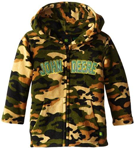 John Deere Little Boys' Fleece Zip Hoodie, Camouflage, 4T front-1023088