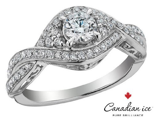 Canadian Ice Infinity Diamond Engagement Ring in White Gold
