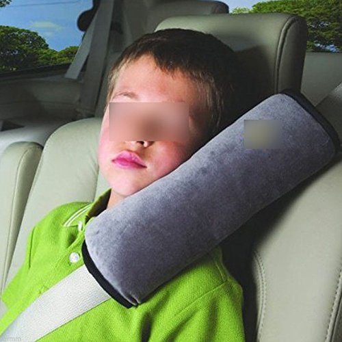 1x Car Seat Safety Belt Strap Cover Shoulder Pad Sleep Pillow For Kid Baby(blue) By Huntgold