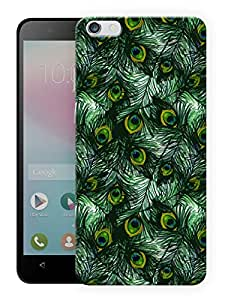 "Humor Gang Peacock Feathers Pattern Printed Designer Mobile Back Cover For ""Huawei Honor 4X"" (3D, Matte, Premium Quality Snap On Case)"
