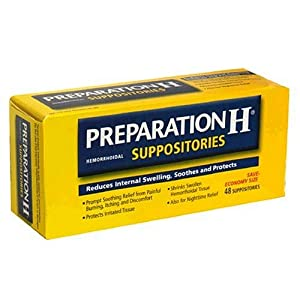 Preparation H Hemorrhoidal Suppositories, Economy Size 48 suppositories