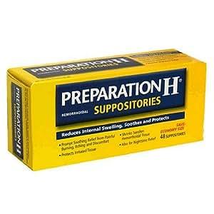 Preparation H Hemorrhoidal Suppositories, Economy Size 48 suppositories