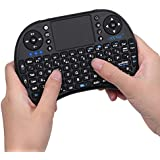 ESYNiC KB04 2.4G Mini Wireless KODI XBMC Keyboard Touchpad Mouse Combo - Multi-media Portable Handheld Android Keyboard- for PC Google Android Smart TV Tivo Box Media Mini TV PC Stick HTPC IPTV Laptop Raspberry PI PS3- British Layout-Black Color