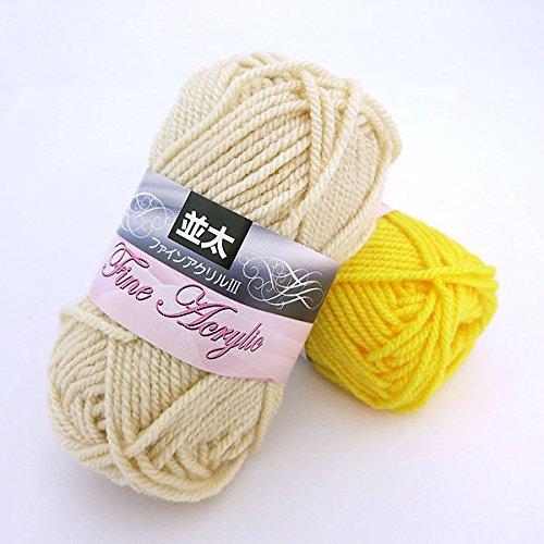 Fine Acryl III as well as Keita 30 g same 5 jade with 116 (black) the yarn crochet / knitting / 5 pieces Pack / set