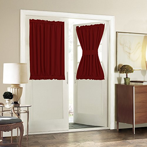 aquazolax-blackout-door-window-curtains-elegant-privacy-one-piece-w54-x-l40-inch-red