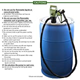 """TERAPUMP TReDRUM 33.5"""" Standard Plug-In Electric Drum Barrel Pump (option - Rechargeable Battery Set / Car Battery DC cable) for DEF, Diesel, Water(not for drinking water), Kerosene, Antifreeze, Windshield Washer Fluid, Mild Detergent, Agricutural Chemicals, Light Oils)"""