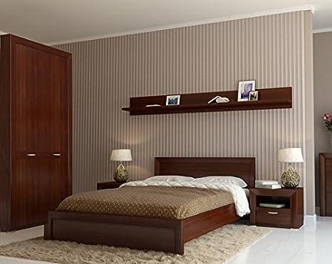 Schlafzimmer komplett 6898 mit Kleiderschrank 96cm nussbaum milano