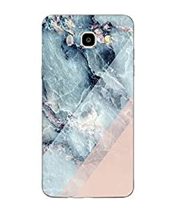Case Cover Marble Printed Pink Soft Back Cover For SAMSUNG Galaxy J5 - 6 (New 2016 Edition)
