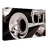 Trompette Tableau Impression sur Toile - 119x81cm