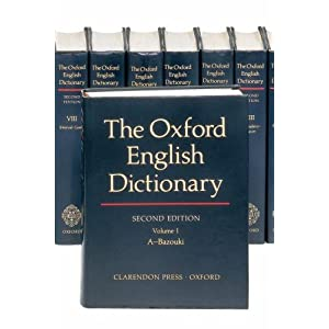 Amazon.com: The Oxford English Dictionary (20 Volume Set) (Vols 1 ...