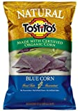 Frito Lay Tostitos Natural Blue Corn Flavored Tortilla Chips, 9oz Bags (Pack of 6)