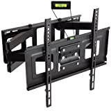 TecTake TV Wall Mount Bracket with cantilever arm tilt & swivel UP TO VESA 400x400 up to 100kg Distance to the wall 7cm FOR SAMSUNG LG PANASONIC PHILIPS TOSHIBA SONY etc 32-55 inch LED LCD PLASMA SCREENS