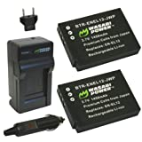 Wasabi Power Battery (2-Pack) and Charger for Nikon EN-EL12, MH-65 and Nikon Coolpix AW100, AW100s, AW110, AW110s, AW120, AW120s, P300, P310, P330, P340, S31, S70, S610, S620, S630, S640, S800c, S1000pj, S1100pj, S1200pj, S6000, S6100, S6150, S6200, S6300, S8000, S8100, S8200, S9050, S9100, S9200, S9300, S9400, S9500, S9600, S9700, S9700s