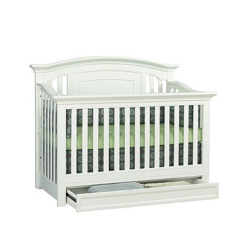 Harbor Lifetime Crib- White front-872797
