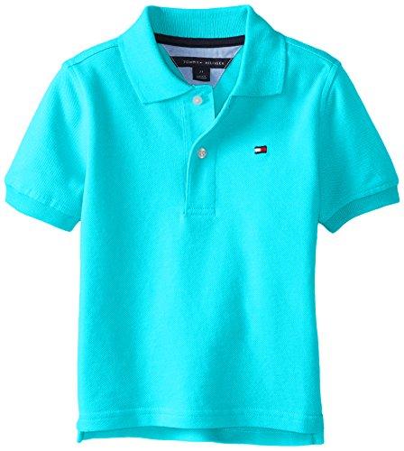 Tommy Hilfiger Little Boys' Ivy Polo Shirt Spring, Sprinkler, 06 Regular