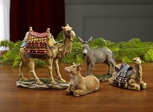 "14"" Christmas Nativity Animal Figurines Deluxe Set"
