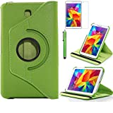 Tab 4 7.0 Case, AiSMei Rotating Case For Samsung Galaxy Tab 4 7.0 SM-T230,SM-T231, SM-T230NU Tablet PC,7-Inch PU Leather Case [Bonus Stylus+Screen Protector] -Green (Color: Green, Tamaño: 7 Inch)