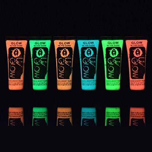 6x-uv-glow-10ml-vernice-fosforescente-illumina-al-buio-pelle-viso-corpo-colore-6-colori-diversi-neon