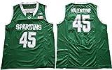 WEENKS Men's Denzel Valentine 45 Michigan State Spartans College Basketball Authentic Jersey XL Green