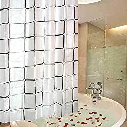 Thicker Square Shower Curtain Bathroom Waterproof Fabric Bath Curtain