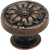 Amerock BP1336RBZ Natural Elegance Leaf Knob, Rustic Bronze, 1-11/32-Inch Diameter
