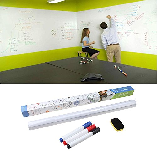 BUY 1 GET 5 FREE : Dry Erase Board Removable Wall Paper Sticker Decal chalkboard :New by WW shop (Dry Erase Board With Wheels compare prices)