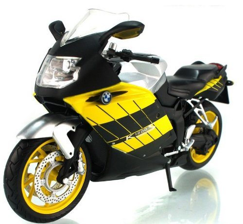 1:12 BMW K1200S Diecast Motorcycle Yellow Color