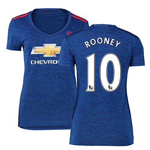 FC Football Jersey Womens Manchester United Soccer Jersey #10 Rooney Blue M (Cheap Manchester United Jersey compare prices)