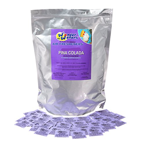 Wonder Wafers 50 Count INDIVIDUALLY WRAPPED Automobile Professional Use Air Fresheners Car and Truck Detail Pina Colada (Air Freshener Pina Colada compare prices)
