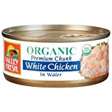 Valley Fresh Organic White Chicken in Water, 5-Ounce Cans (Pack of 4) ~ Valley Fresh
