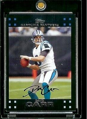 2007 Topps Football # 20 David Carr - Carolina Panthers - NFL Trading Cards