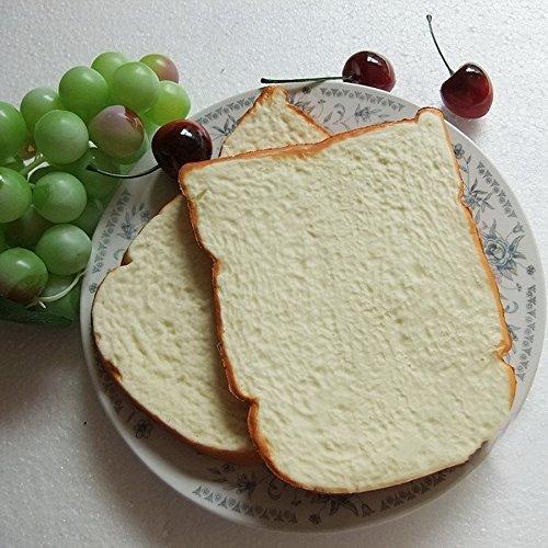 Gresorth 2 pcs fake cake artificial bread toast for Artificial bread decoration