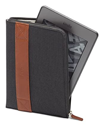 Funda con cremallera Amazon para Kindle, color carbón (sirve para Kindle Paperwhite, Kindle y Kindle Touch)