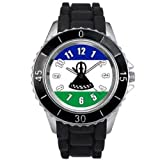 Lesotho Country Flag watch with silicone band