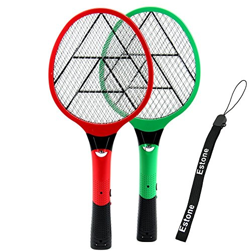 Estone Multi-Functional Fly Mosquito Insect Swat Electric Swatter Killer Bat Eu Plug