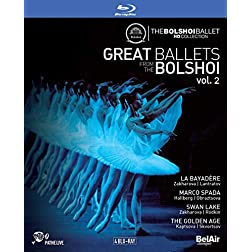 Great Ballets from the Bolshoi, Vol. 2 - La Bayadere, Marco Spada, Swan Lake, The Golden Age [Blu-ray]