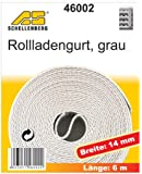 Schellenberg 46002 Rollladengurt 14 mm/6.0 m, grau