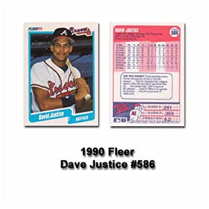 David Justice 1990 Fleer MLB Rookie Card #586 (Atlanta Braves)