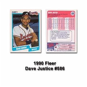 David Justice 1990 Fleer MLB Rookie Card #586 (Atlanta Braves)
