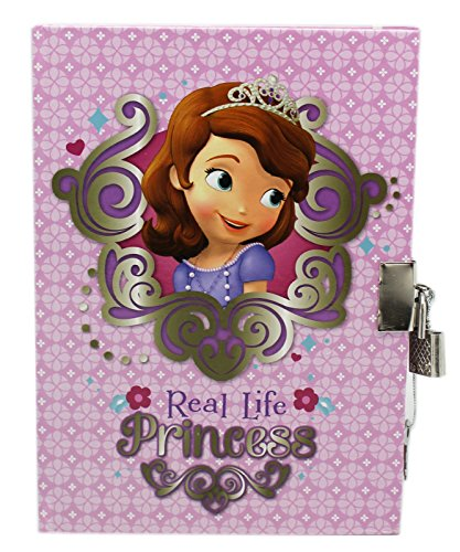 Purple Disney Sofia the First Real Life Princess Large Diary with Lock
