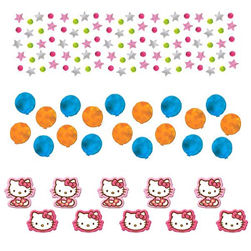 Amscan Hello Kitty Party Confetti Value Pack (1 Piece), Pink/Blue/Orange, 12 oz - 1