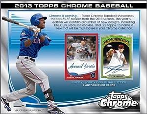 2013 Topps Chrome Baseball Cards HOBBY Box - 24 packs / 4 cards [Sep 18] -- 2 AUTOS PER BOX