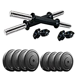 Aurion 1111 20 Kg Dumbbell Set Combo Offer (Black)